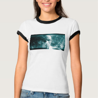 Medical Science Futuristic Technology as a Art T-Shirt