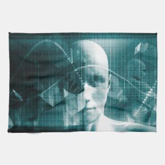 Medical Science Futuristic Technology as a Art Tea Towel