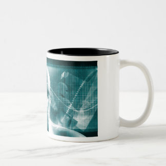 Medical Science Futuristic Technology as a Art Two-Tone Coffee Mug