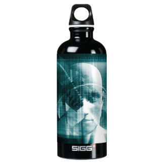 Medical Science Futuristic Technology as a Art Water Bottle