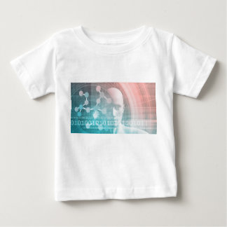 Medical Science of the Future with Molecule Backgr Baby T-Shirt