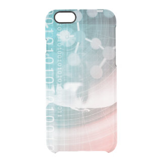 Medical Science of the Future with Molecule Backgr Clear iPhone 6/6S Case