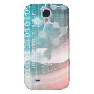 Medical Science of the Future with Molecule Backgr Galaxy S4 Case