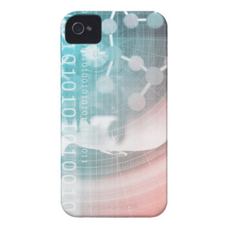 Medical Science of the Future with Molecule Backgr iPhone 4 Case