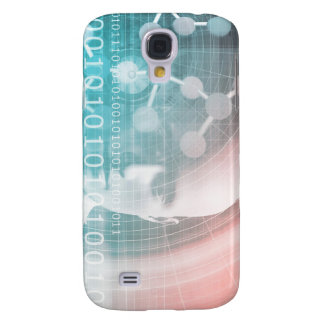 Medical Science of the Future with Molecule Backgr Samsung Galaxy S4 Cases