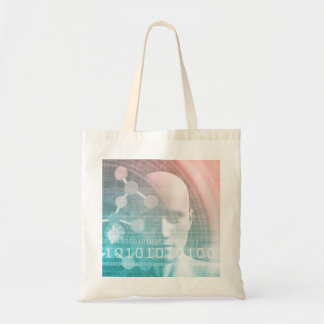 Medical Science of the Future with Molecule Backgr Tote Bag