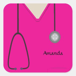 Medical Scrubs Hot Pink Sticker
