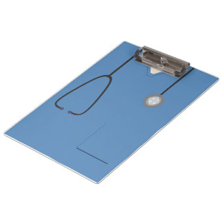 Medical Scrubs Nurse Doctor Blue Clipboard
