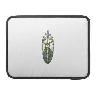 Medical Snake Eagle Feather Drawing MacBook Pro Sleeves