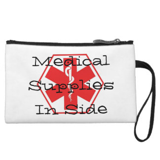 Medical Supply Pouch Wristlet Clutch