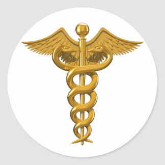 Medical Symbol Classic Round Sticker