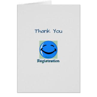 Medical Thank You Registration Dept Greeting Card