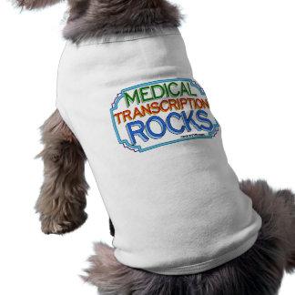 Medical Transcription Rocks Pet Tee Shirt
