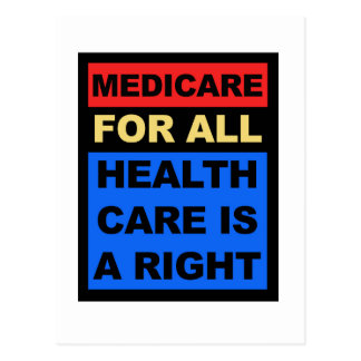 Medicare for All - Healthcare is a Right Postcard