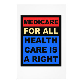 Medicare for All - Healthcare is a Right Stationery Design