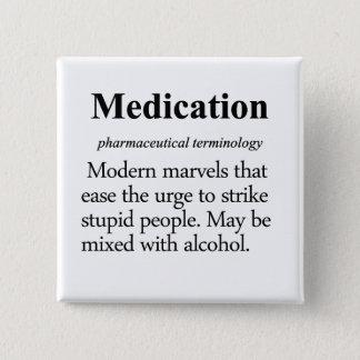 Medication Definition 15 Cm Square Badge