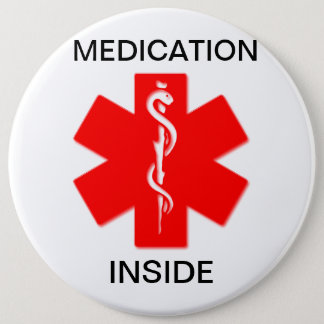 Medication inside medical alert button