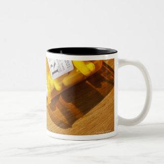Medication spilled on table Two-Tone coffee mug