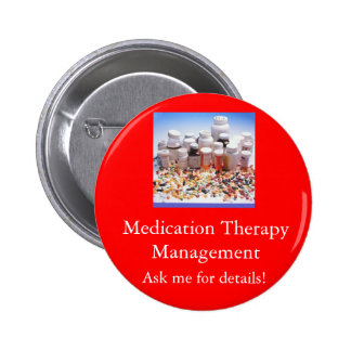 Medication Therapy Management, Ask m... 6 Cm Round Badge