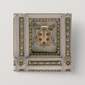 Medici coat of arms, from the soffit of the church 15 cm square badge