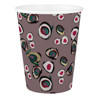 Medici Gardens 2 Colorful Abstract Paper Party Cup