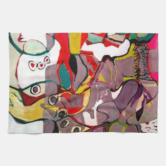Medici Gardens Colorful Abstract Kitchen Bar Towel