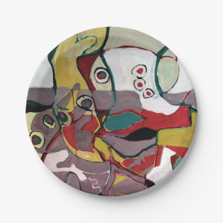 Medici Gardens Colorful Abstract Paper Party Plate