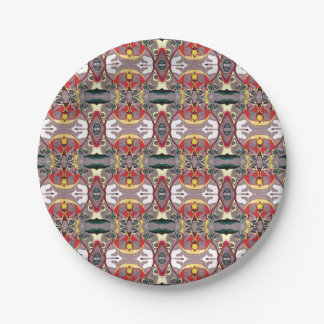 Medici Gardens Reflections Colorful Abstract Plate