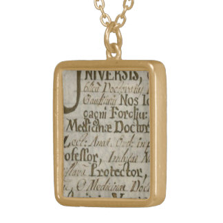 Medicinae Doctoris Gold Plated Necklace