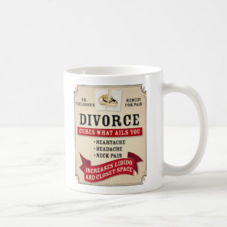 Medicinal Divorce Label Basic White Mug