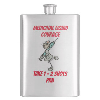 Medicinal Liquid Courage Hip Flask