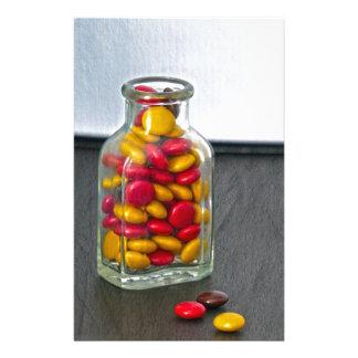 Medicine Bottle of Candy Stationery Design