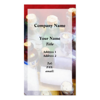 Medicine Bottles and Bandages Pack Of Standard Business Cards