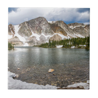 Medicine Bow Lake View Ceramic Tile