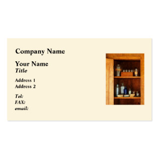Medicine Cabinet with Asthma Medication Business Card Templates