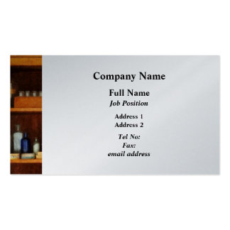 Medicine Cabinet with Asthma Medication - Platinum Pack Of Standard Business Cards
