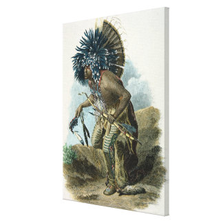 Medicine man of the Mandan tribe in the costume of Canvas Print