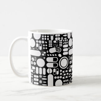 medicine mug black and white