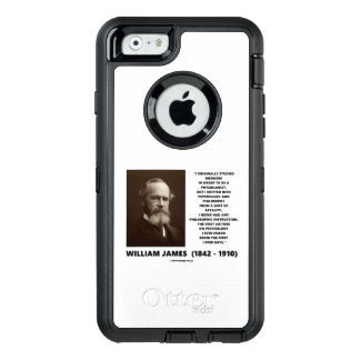 Medicine Psychology Philosophy William James Quote OtterBox iPhone 6/6s Case