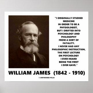 Medicine Psychology Philosophy William James Quote Print