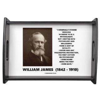 Medicine Psychology Philosophy William James Quote Serving Platter