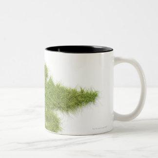 Medicine symbol made of grass Two-Tone coffee mug