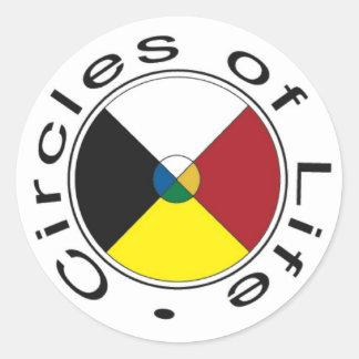 Medicine Wheel - Four Seasons Classic Round Sticker