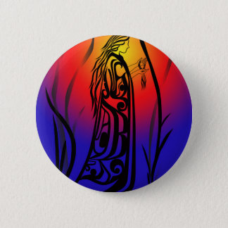 Medicine Woman Sunrise Prayers 6 Cm Round Badge