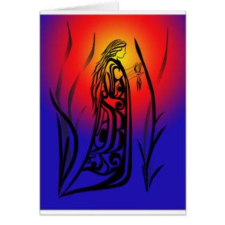 Medicine Woman Sunrise Prayers Greeting Cards