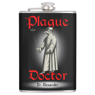 Medico Della Peste Plague Doctor Bird Beak Costume Flask