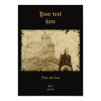 Medieval 13 Cm X 18 Cm Invitation Card