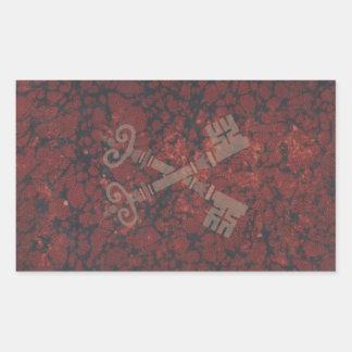 Medieval 21st keys against dark red marble sticker