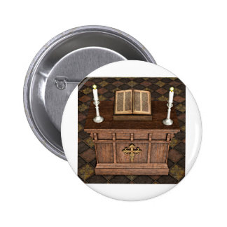 Medieval Alter and Bible Buttons