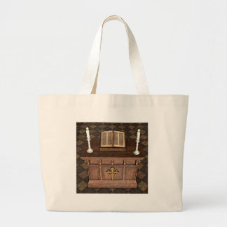 Medieval Alter and Bible Tote Bag
